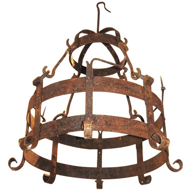 18th Century Iron Pot Holder 1