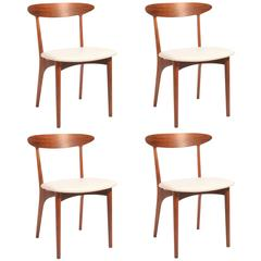 Kurt Ostervig Walnut and Leather Dining Chairs