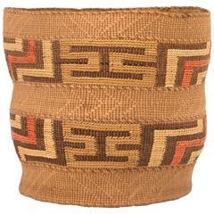 Antique Northwest Coast Berry Basket, Tlingit
