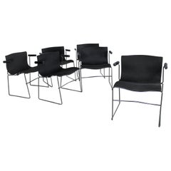 Six Vintage Handkerchief Armchairs by Massimo and Lella Vignelli for Knoll
