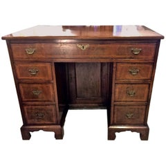 18th Century Walnut Kneehole Desk