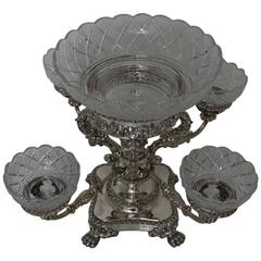 "William IV Antique Old Sheffield Epergne/Centrepiece, circa 1830, ""Unmarked"""
