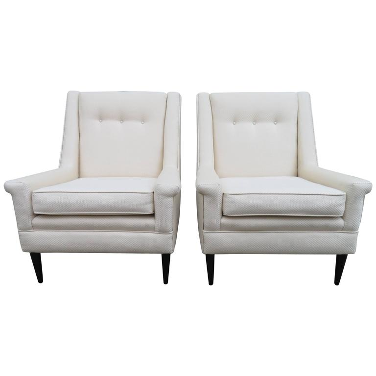Gorgeous Pair of Harvey Probber Style Lounge Chairs, Mid-Century Modern