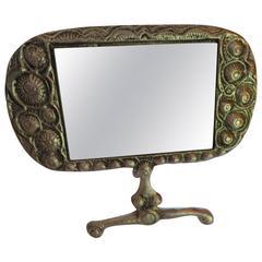 Stunning Donald Drumm Brutalist Aluminium Dressing Table Mirror, Mid-Century