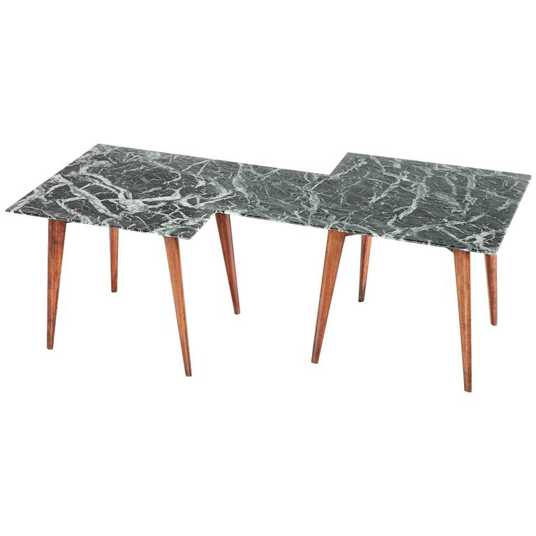 Round Coffee Table With Green Marble Top For Sale At Stdibs - Geometric marble coffee table