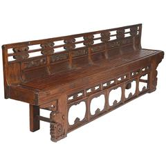 Antique Late 18th-Early 19th Century Long Archaic Carved Opera