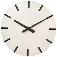 Large Vintage Austrian Electric Wall Clock Carl Auböck Style