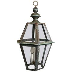 Six Sides Hanging Copper Lantern