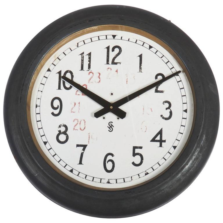 Siemens Halske Factory Workshop Or Train Station Clock