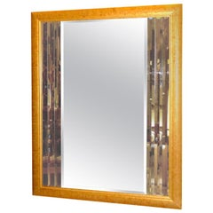 Tri-Color Multi-Bevel Bordered Mirror in Giltwood Frame