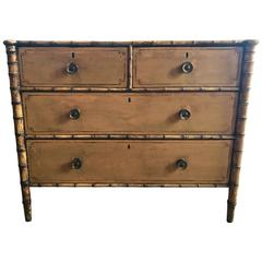 19th Century English Faux Bamboo Chest