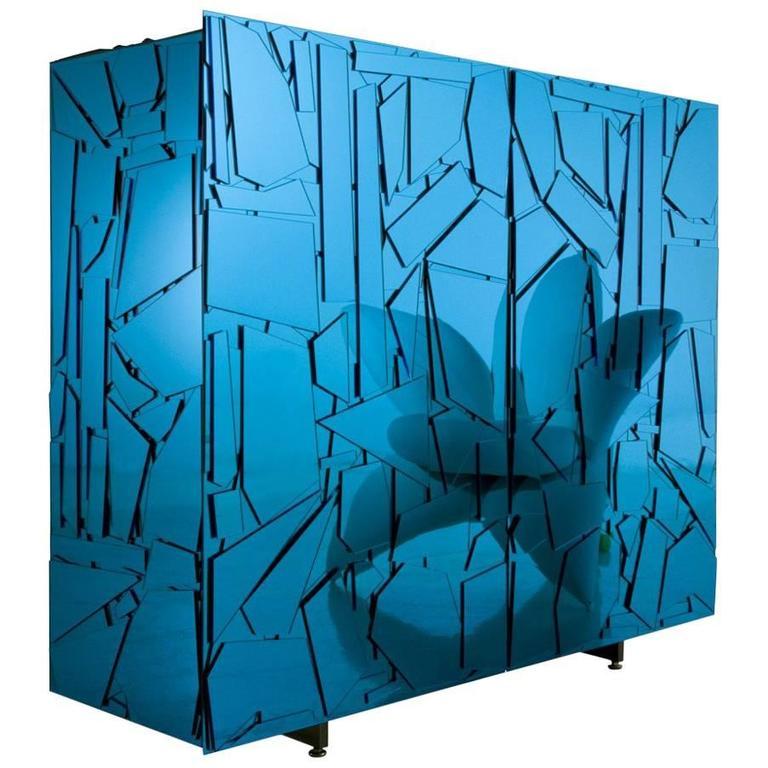 Edra Scrigno Cabinet in Colored Methacrylate