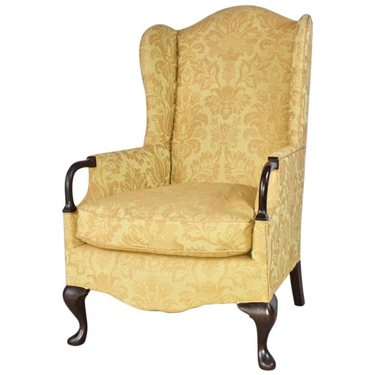 Vintage Wingback Armchair For Sale at 1stDibs