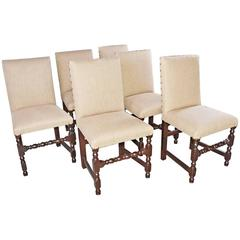 Six Jacobean Revival Dining Chairs
