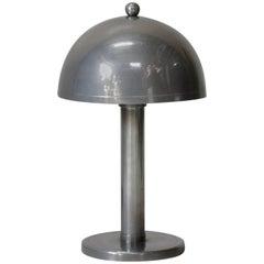 Nickeled Art Deco Desk Lamp, France, 1930s