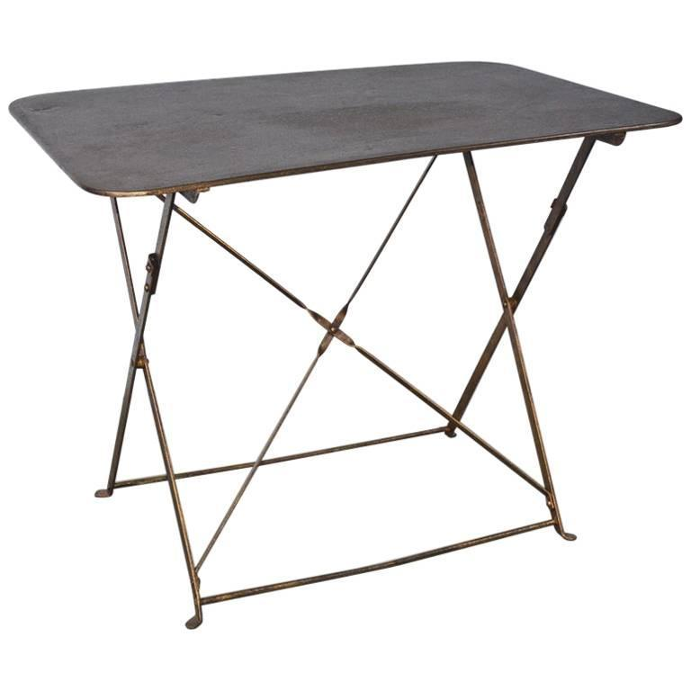 French Folding Metal Garden Table For