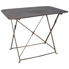 Französischer faltbarer Metall Gartentisch