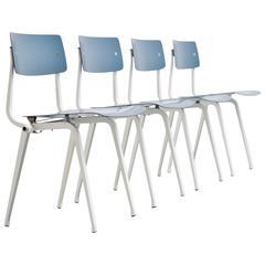 Friso Kramer Revolt Folding Chairs for Ahrend de Cirkel, 1953