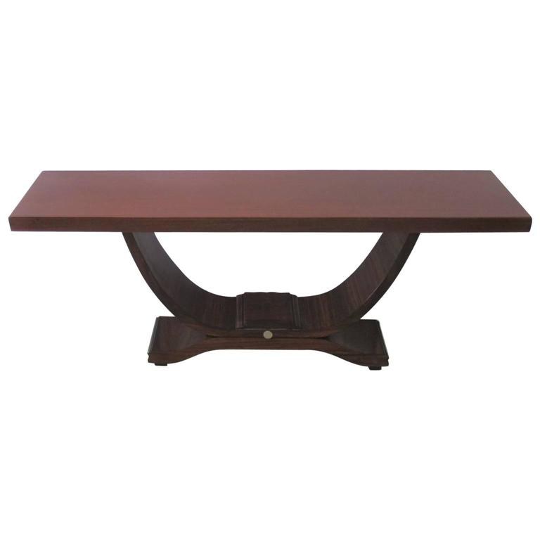Art Deco Foyer Table : Art deco console table in mahogany at stdibs