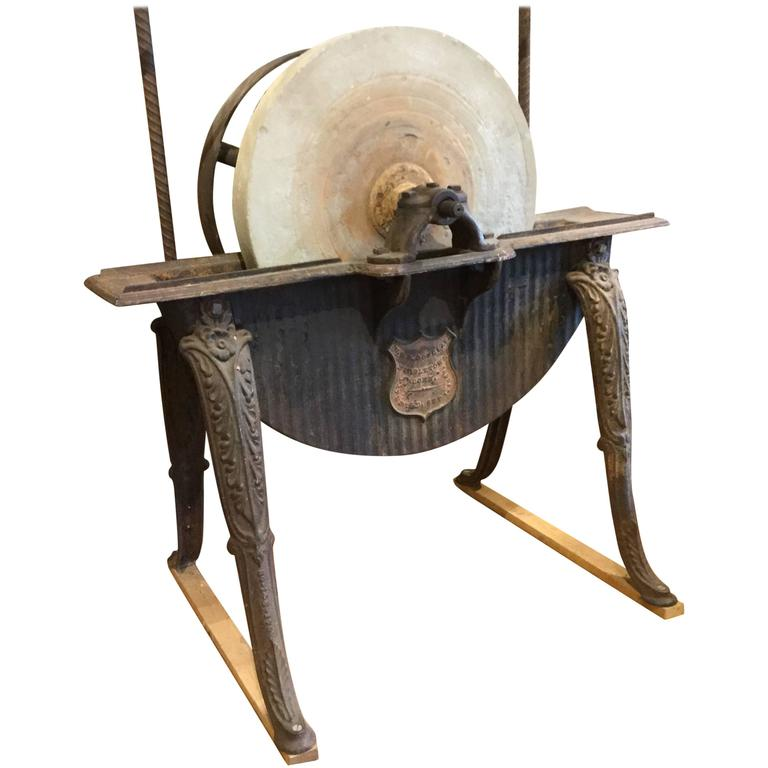 Industrial Revolution Grinding Machine, Circa 1870 For Sale