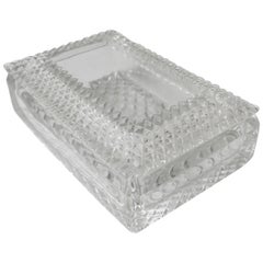 Crystal Jewelry Box with Diamond Quilted Design