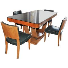 Original French Art Deco Complete Dining Room Set, 1930s