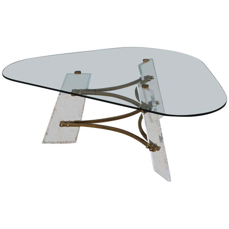 Charles Modern 47 Square Glass Top Coffee Table W: Charles Hollis Jones Square Coffee Table At 1stdibs