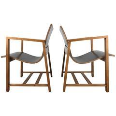 "Rare Pair of ""Kleinhans"" Chairs, circa 1939 Charles Eames/Eero Saarinen"