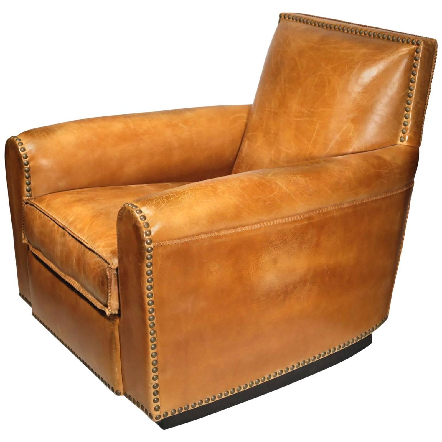 Brand New Distressed Leather Colorado Club Chair by Ralph Lauren