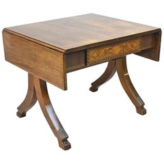19th Century Italian Empire Writing Table in Mahogany with Marquetry