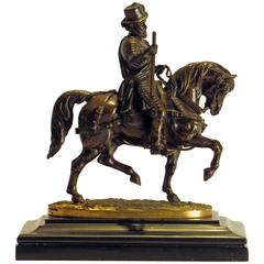 Bronze of Prince Philip the Silent Riding by Count Nieuwerkerke, circa 1850