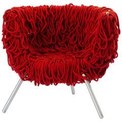 Edra Vermelha Armchair in Handwoven Special Cord
