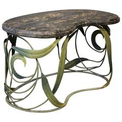 Unusual 1940s French Painted Metal Occasional Table
