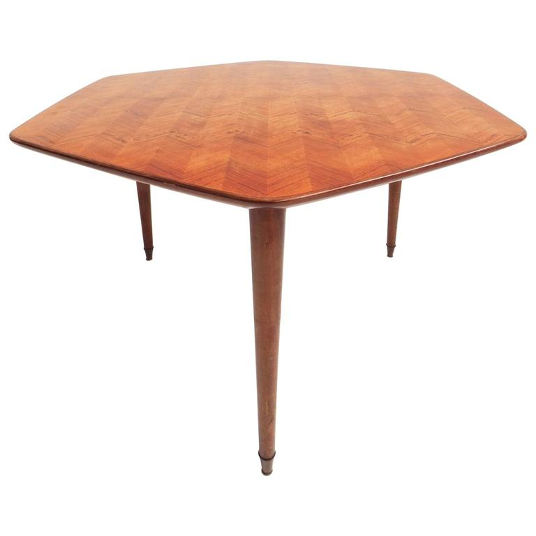 Beautiful Hexagonal Dining Table For Sale At 1stdibs