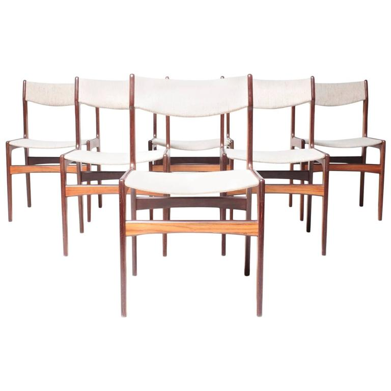 Danish Modern Rosewood Dining Chairs At 1stdibs