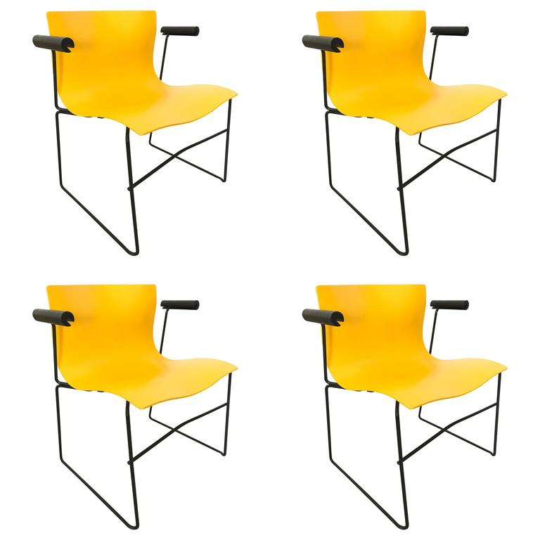 "Set of Four Lella and Massimo Vignelli ""Handkerchief"" Armchairs for Knoll For Sale"