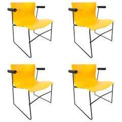 "Set of Four Lella and Massimo Vignelli ""Handkerchief"" Armchairs for Knoll"