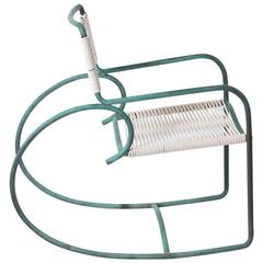 3 Walter Lamb Bronze and Rope Patio Rocking Chairs