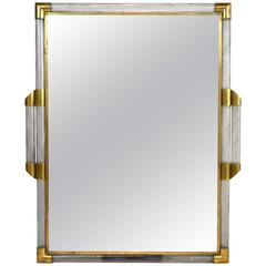 Italian Murano Glass and Brass Mirror