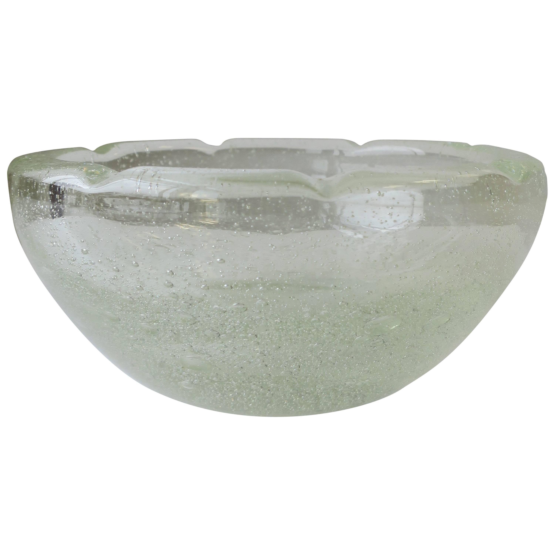 French Modern Clear Art Glass Bowl
