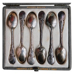 19th Century Christofle et Cie Sterling Silver Dessert Spoons