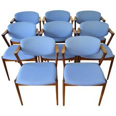 Set of Eight Kai Kristiansen Rosewood #42 Dining Chairs