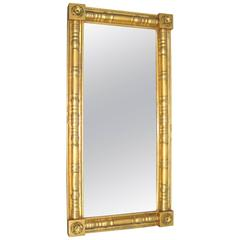Stunning Neoclassical Gold Gilt Mantle Mirror