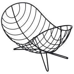 Ferris-Shacknove Twin Scoop Basket in Powder-Coated Iron