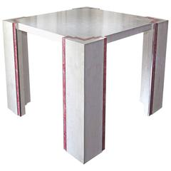 Tessellated Marble Dining Table in Art Deco Revival Style