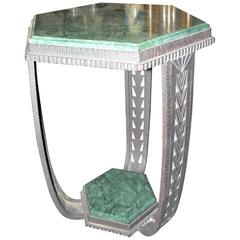 Art Deco Ironwork Marble Topped Table