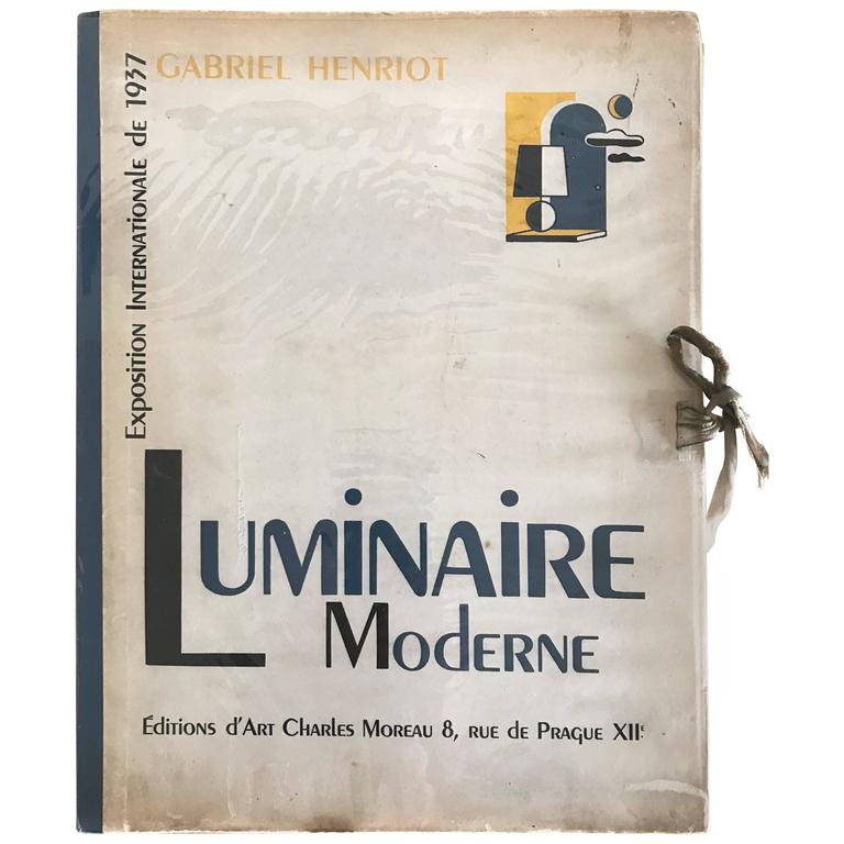 1937 Luminaire Moderne French Lighting Catalogue / Art Deco 1