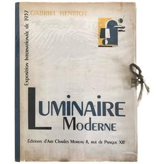 1937 Luminaire Moderne French Lighting Catalogue / Art Deco