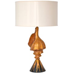 Hollywood Regency Tole Shell Form Table Lamp