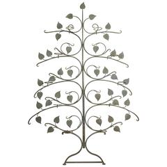 Mid-Century Wrought Iron Espaliered Tree Plant Stand by Salterini